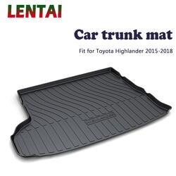 LENTAI 1 шт. задний багажник Грузовой Коврик для Toyota Highlander 2015 2016 2017 2018 загрузочный лайнер лоток водонепроницаемые Противоскользящие коврики