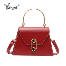 YBYT New Luxury Women PU Leather Messenger Bag Ladies Handbags Female Shoulder Party Lock Purse High Quality Crossbody Bags