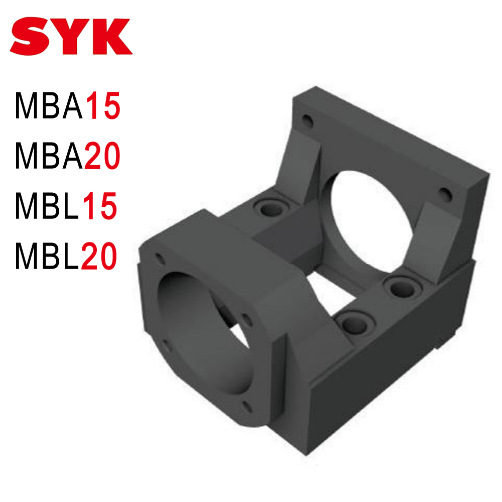 SYK <font><b>Nema</b></font> 23 <font><b>34</b></font> <font><b>Motor</b></font> <font><b>Mounting</b></font> Bracket MBA15 MBA20 MBL15 MBL20 Cast Steel for 20mm 25mm Ballscwer Support Unit set image