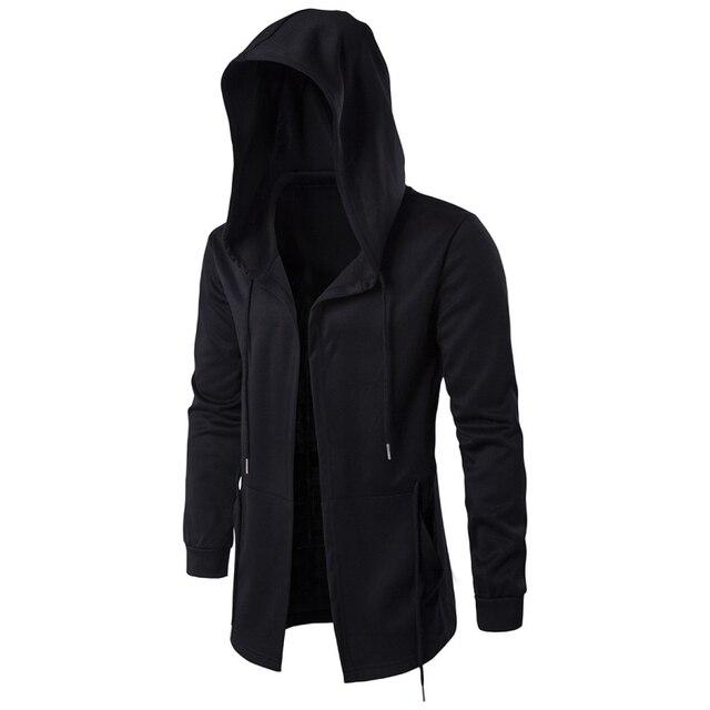 Хёрд модные Для мужчин толстовки с капюшоном хип-хоп мантии толстовки куртка с длинным рукавом Плащ мужской пальто Верхняя одежда Moleton Masculino