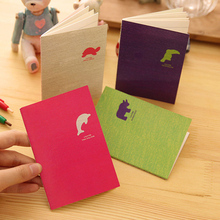4pcs/lot 12*8.5cm Candy Colored Animals Interesting Little Notebook Portable Diary Stationery Student Prizes Small Book