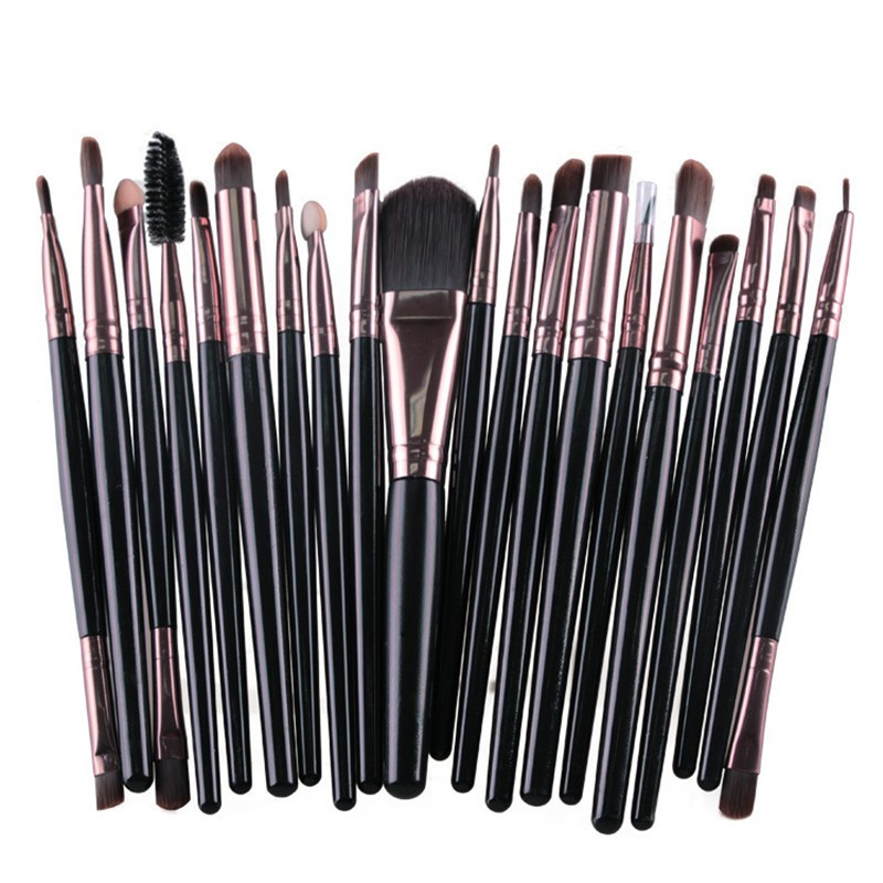 20pcs Eye Makeup Brushes Set Eyeshadow Brush Powder Foundation Eyebrow Lip Eyeliner Brush Blending Cosmetic Tool