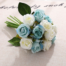 12 Heads Real Touch Latex Fake Flowers Artificial Rose Flowers Bouquet Artificiais For Wedding Decoration Party Home Decor цены