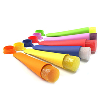 Silicone DIY Popsicle Mold Handhold Ice Cream Stick Colorful Snacks Container Household Baking Ice-cream Mould Kitchen Tools