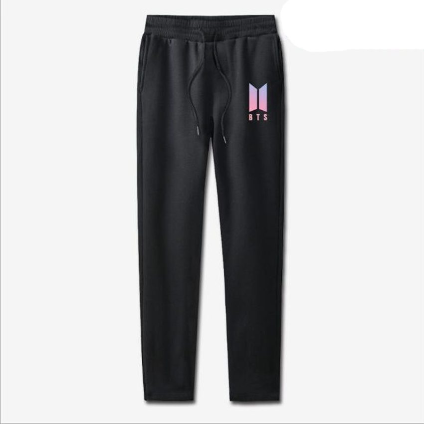 Sweat Pants Female 2018 Korean BTS KPOP Bangtan Boys Hip Hop joggers Sweatpants Casual Harem Pants Loose Trousers For Women Men
