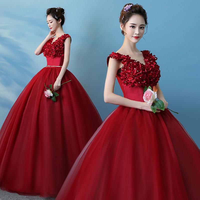 67ea87b15c Товар Evening Dress Elegant Wine Red V Neck Sleeveless Lac E Up Back ...