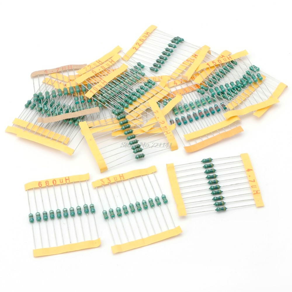 200PCS 0.5W 20 Value Assorted Color Wheel Inductor Kit 10% Tolerance Set
