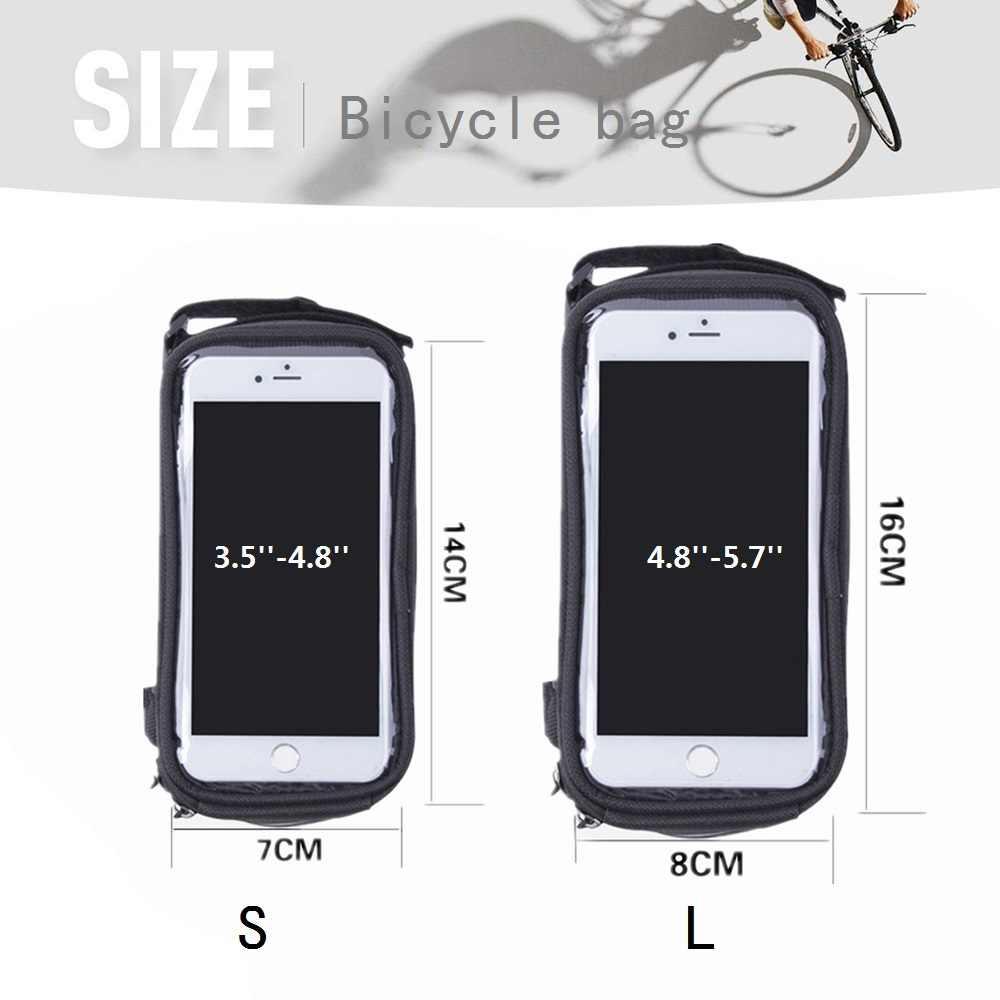 Wasserdicht Handyhalter Fahrrad Handytasche Zacro 3 in 1 Fahrrad Rahmentasche