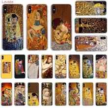 Lavaza Kiss by Gustav Klimt Design Hard Phone Case for Apple iPhone 6 6s 7 8 Plus X 5 5S SE XS Max XR Cover