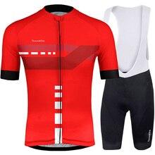 2019 RUNCHITA short sleeve Bike jersey Ropa Quick Dry Bicycle pro Cycling Jersey set High-Breathable gel bike Maillot Culott kit