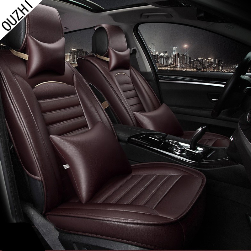 ouzhi for toyota corolla rav4 highlander prado yaris prius camry leather car seat cover front. Black Bedroom Furniture Sets. Home Design Ideas