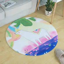 Мультфильм мечта Альпака круглый ковер для Гостиная детей Спальня ковры Компьютер стул, коврик гардероб ковры