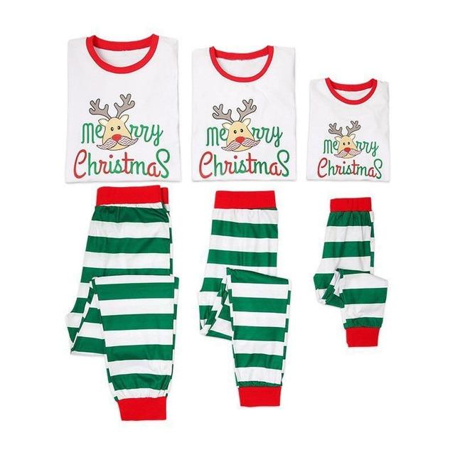 99960964f712 Xmas Family Matching Christmas Pajamas PJs Sets Xmas Mom Dad Children  Sleepwear Sleepwear Kids Adult Nightwear