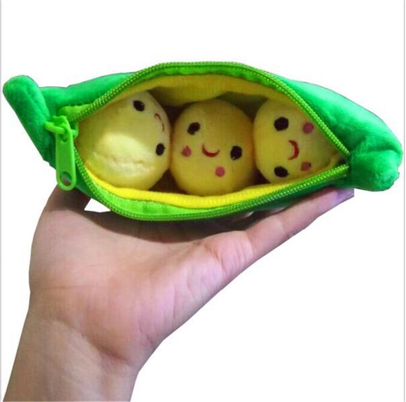 ФОТО 25cm kids baby anime pea plush toys cute pea plant soft stuffed toys doll girlfriend kawaii christmas gift high quality toy