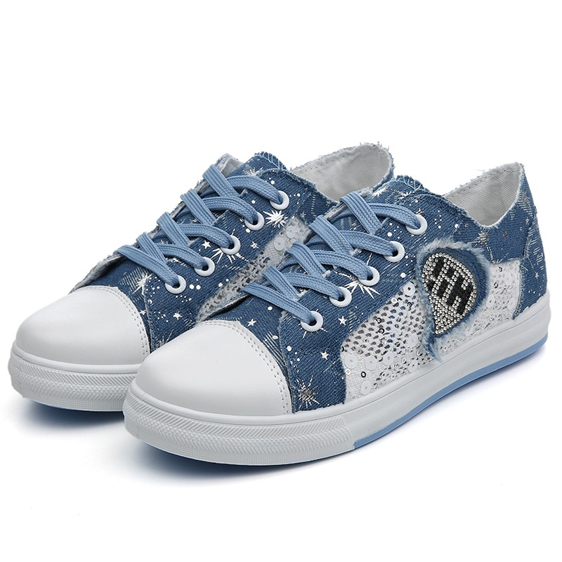 Summer canvas shoes female breathable Korean version of the top of the hollow lace shoes flat bottom low diamond diamonds shoes summer women shoes casual cutouts lace canvas shoes hollow floral breathable platform flat shoe sapato feminino lace sandals