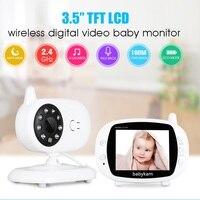 Babykam Video Nanny Baby Monitor 3 5 Inch LCD IR Night Vision 2 Way Talk Lullabies