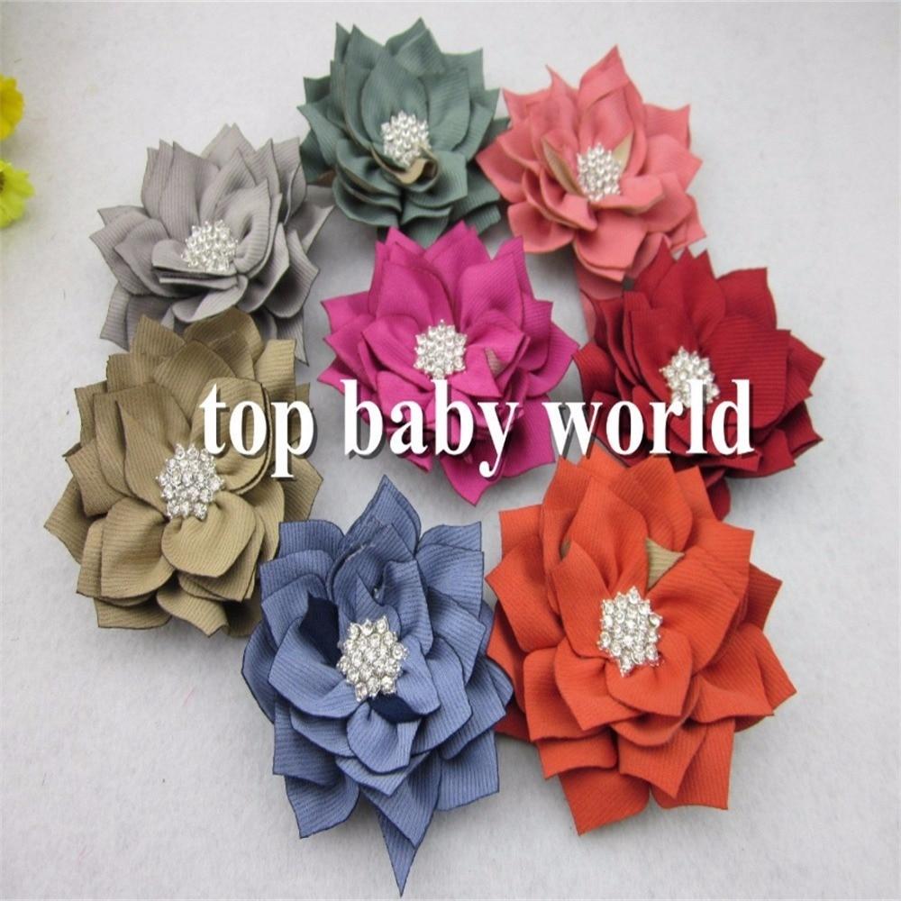 New Hair Flower Children Hair Accessories3inch Winter Flowers With