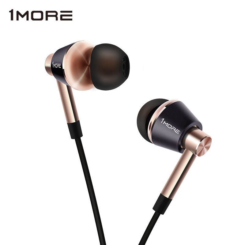1MORE Triple Driver E1001 In Ear Earphone for Phone HIFI Hybrid Earpiece Earbuds with Microphone and