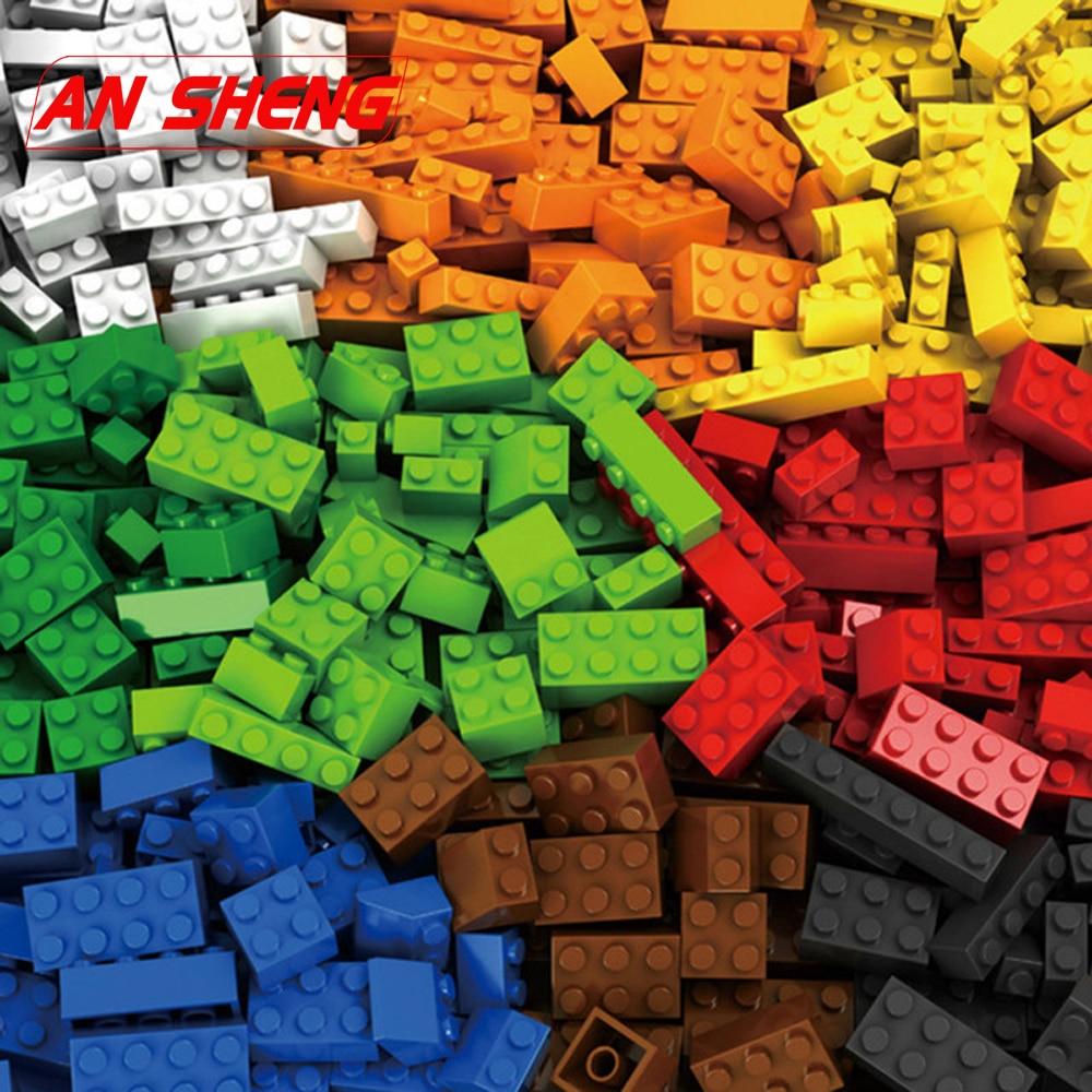 1000 Pieces Building Blocks City DIY Creative Bricks Bulk Model Figures Educational Kids Toys