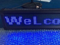 FAST SHIPPING running text led Semi outdoor indoor led display blue p10 signboard 16*128dot led sign board advertising led sign