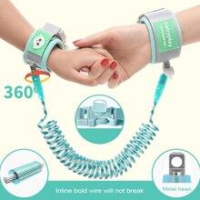 Модернизированный вращающийся на 360 градусов детский анти-потерянный наручный поводок для детей безопасный светоотражающий анти-потерянный браслет для ходунков