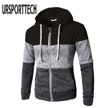 URSPORTTECH Hoodies Men Spring Autumn Long Sleeve Zipper Hooded Sweatshirts Man Fashion Casual Hip Hop Pullover Hoody Streetwear 49 hot back ribbon pullover printed sweatshirts men 2018 hip hop spring casual fashion long sleeve swag sweatshirts streetwear