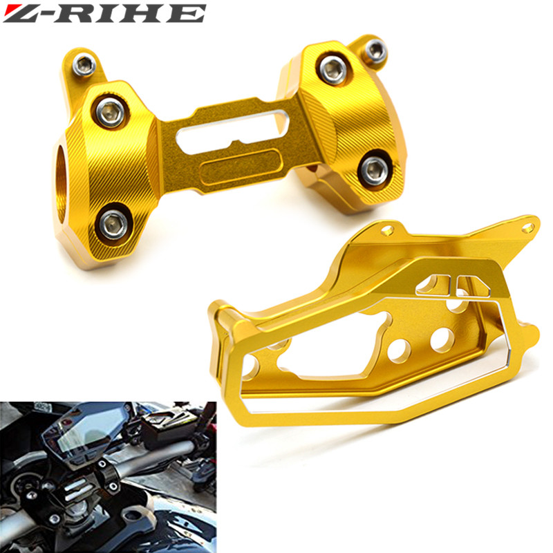 Motorcycle CNC Aluminum Case Cover for Yamaha MT09 MT 09 FZ 09 2013-2016 covered Speedometer tachometer Measuring Instrument for yamaha mt 09 fz 09 mt 09 fz 09 2013 2016 full set of speedometer cover case with handlebar fat bar risers mount clamp gold