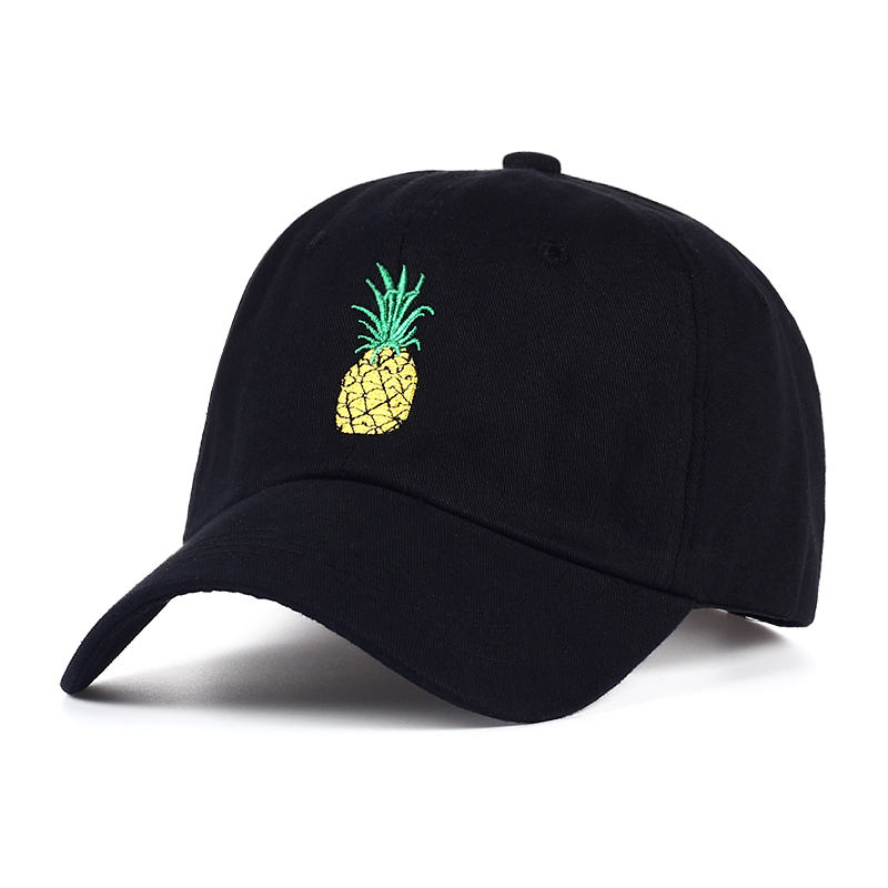 TUNICA Pineapple Embroidery Baseball Cap Cotton 100% Hipster Hat Fruit Pineapple Dad Hat Hip Hop Cotton Snapback Cap hats 3