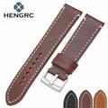 Hand Stitching Vintage Watchbands Men Genuine Leather 18 20 22mm Calfskin Watch Band Strap Metal Buckle Accessories