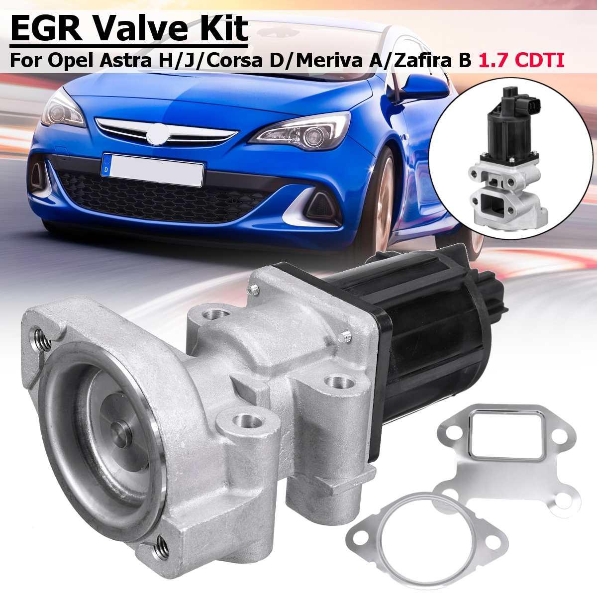 Car Stainless Steel EGR Valve Kit For OPEL Astra H/J  Corsa D Meriva A Zafira B 1.7 CDTI 5851076 97376663 Exhaust Gas  Valve