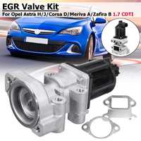 Car Stainless Steel EGR Valve Kit For OPEL Astra H/J Corsa D Meriva A Zafira B 1.7 CDTI 5851076 97376663 Exhaust Gas Valve
