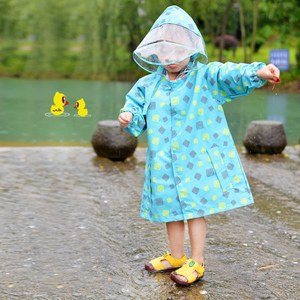 Image 4 - FreeSmily style Raincoat For Children Kids students impermeable waterproof boys girls child Rain Coat Ponchos Jackets