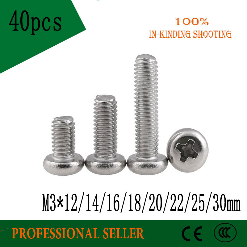 10 x Computer PC Case Fan Round Head Self Tapping Mounting Screws M3 15mm UK