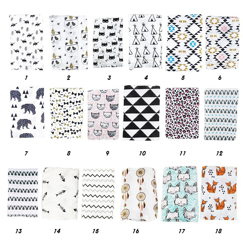 Muslin baby Swaddle blanket Baby Swaddle Newborn Baby Bath Towel Swaddle Blankets Multi Designs Functions Baby Wrap
