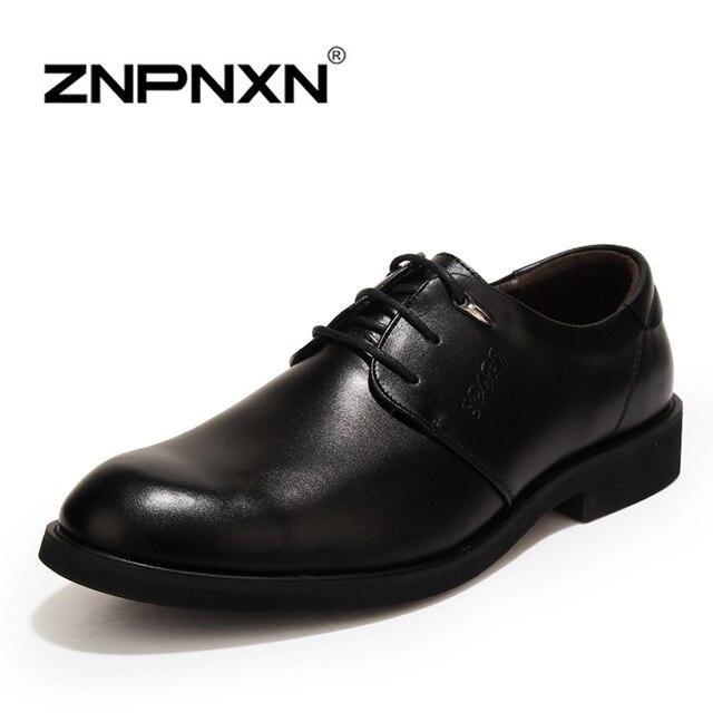 ZNPNXN Мужская Обувь повседневная Квартиры Кожа PU новых Людей Оксфорды, на Шнуровке Бизнес Мужчины Свадебные Туфли, мужчины Платье Обувь
