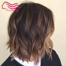 Европейский девственный Кошерный парик из волос, необработанные волосы кудрявые или слегка волнистые еврейские парики