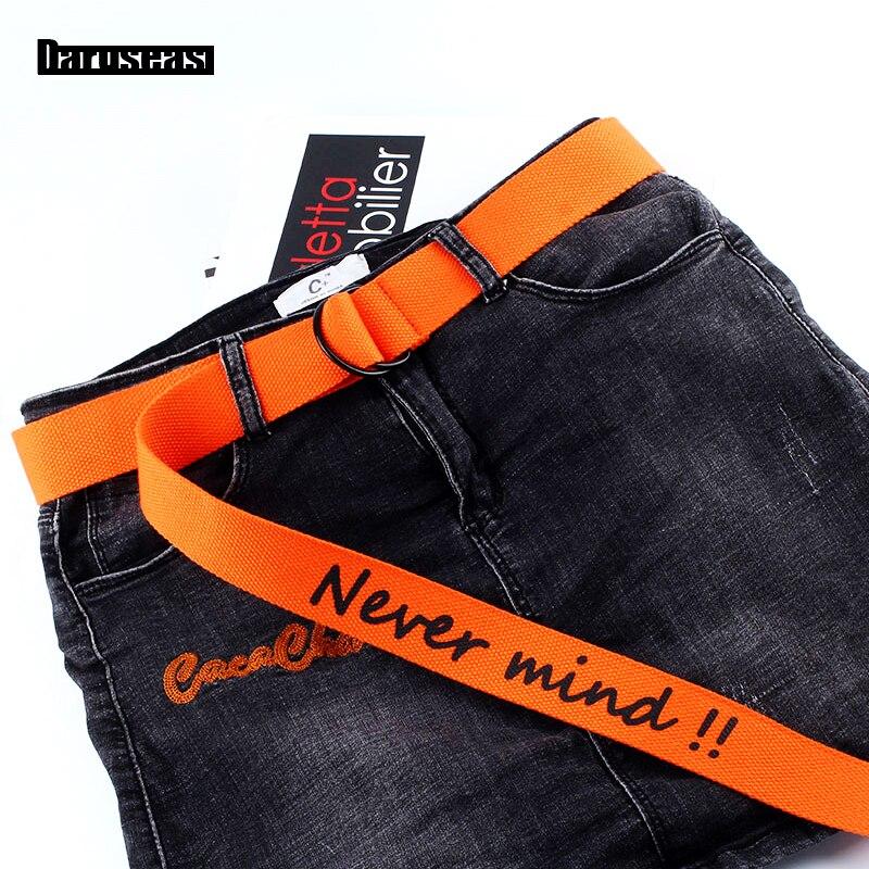 Canvas   Belt   Korean version Simple Leisure canvas   belt   Unisex Double buckle   Belt   teens student fashion Lengthen Male   Belt
