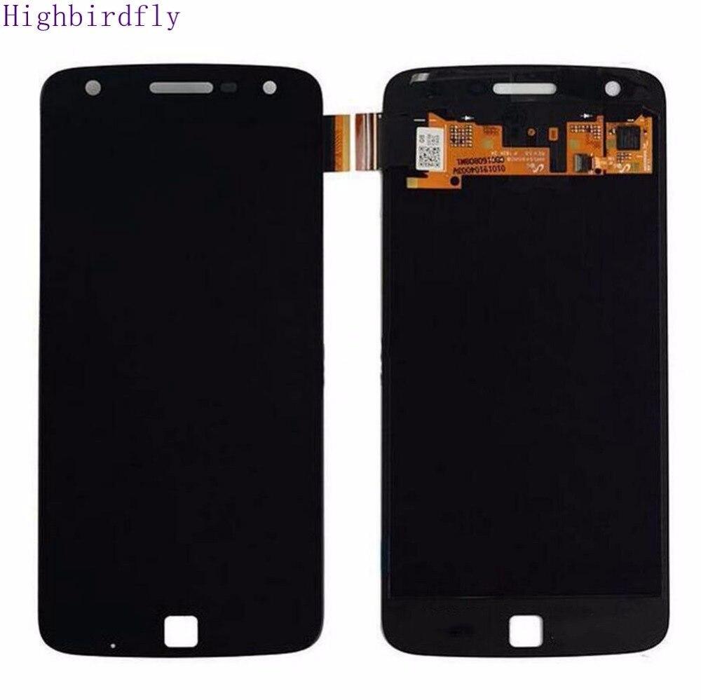 Highbirdfly For Motorola moto Z Play XT1635-01 XT1635-02 XT1635-03 Lcd Screen Display +Touch Glass Digitizer Assembly