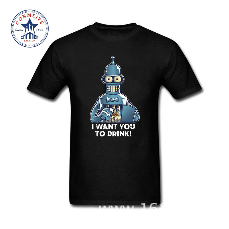 Hot Selling Funny Bender Bending Rodriguez Cotton T Shirt