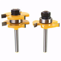 1Set Tenon Cutter Floor Wood Drill Bits Milling Cutter Groove Tongue Router Bit 1 4 T