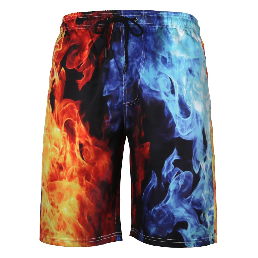 2019 High Quality Mens Summer Swim Trunks 3D Print Graphic Casual Athletic Beach Short Pants Support Wholesale Dropship
