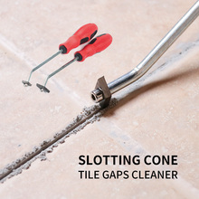 Tile Gap Cleaning Tool Tungsten Steel Slotting Cone Joint Cleaner Construction Tool Floor Tile Cleaning Cone Notcher Collator