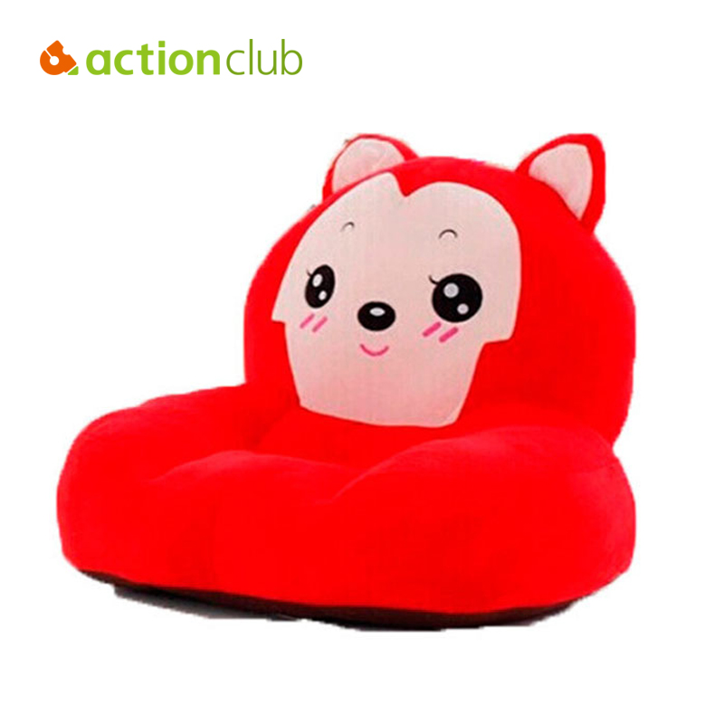 Actionclub Activity & Gear Baby Chair&Seat Cartoon Sofa Kids Bean Bag Bed Kawaii Ali Plush Toys Furniture Feeding Chiair baby anti rollover safety seat portable waist stool children small sofa cartoon plush nursing feeding pillow learn to sit sofa