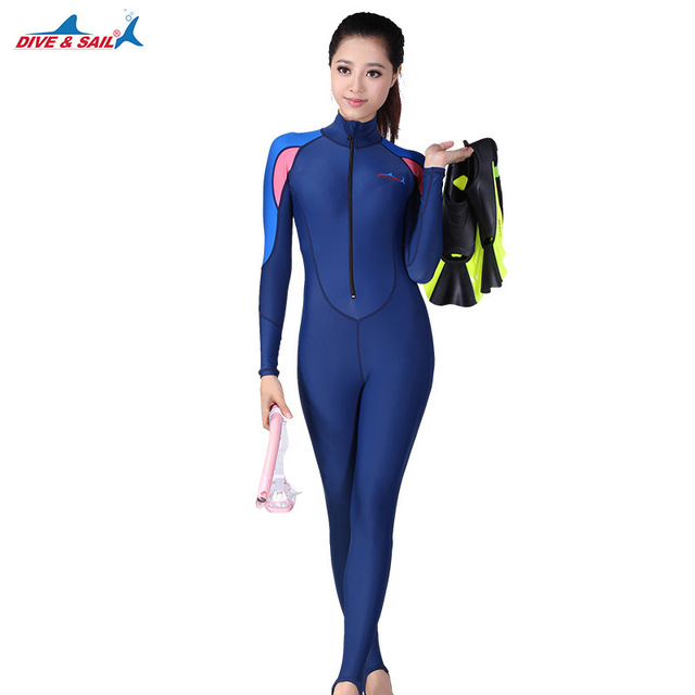 DIVE&SAIL UPF50+ Lycra Swim Wet Suit Dive Skin Snorkeling Surf Anti-skid Full body Rash Guard for Men Women One piece Wetsuit