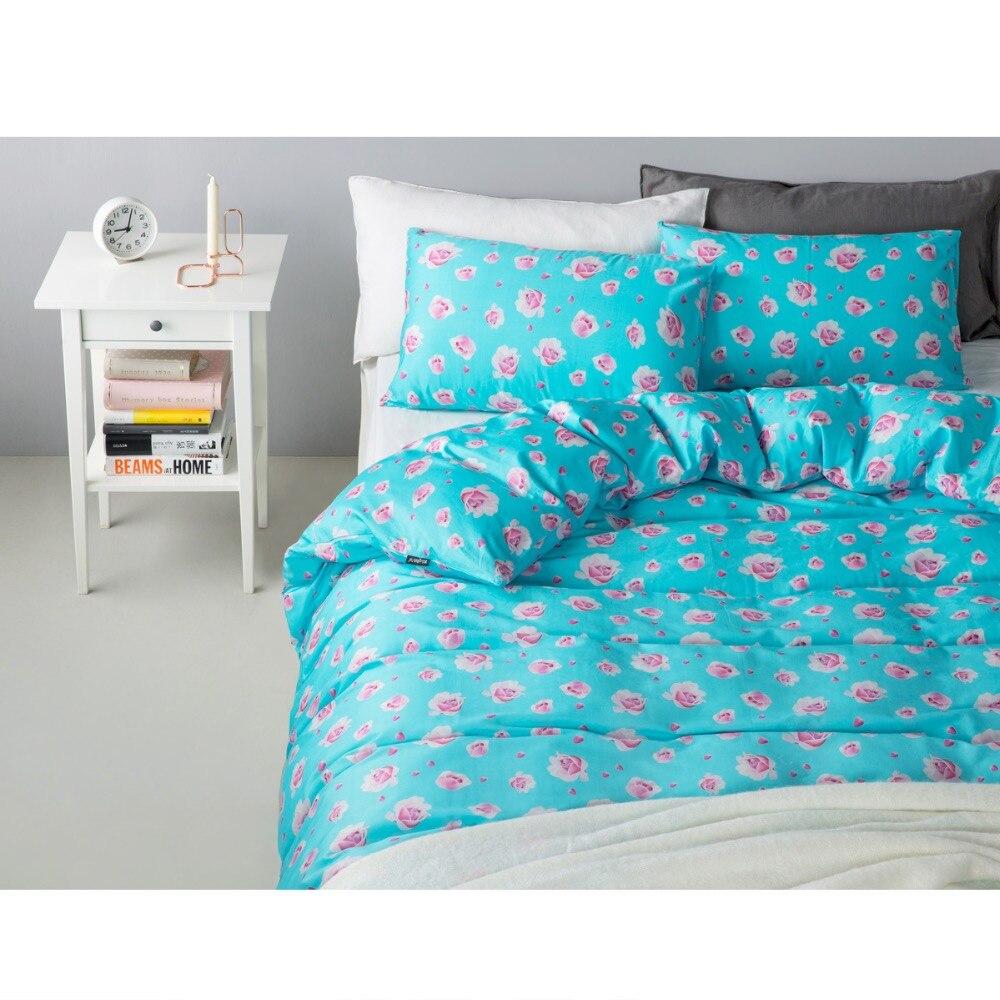 ΞMarca flor Print100 % algodón pastoral romántico ropa de cama