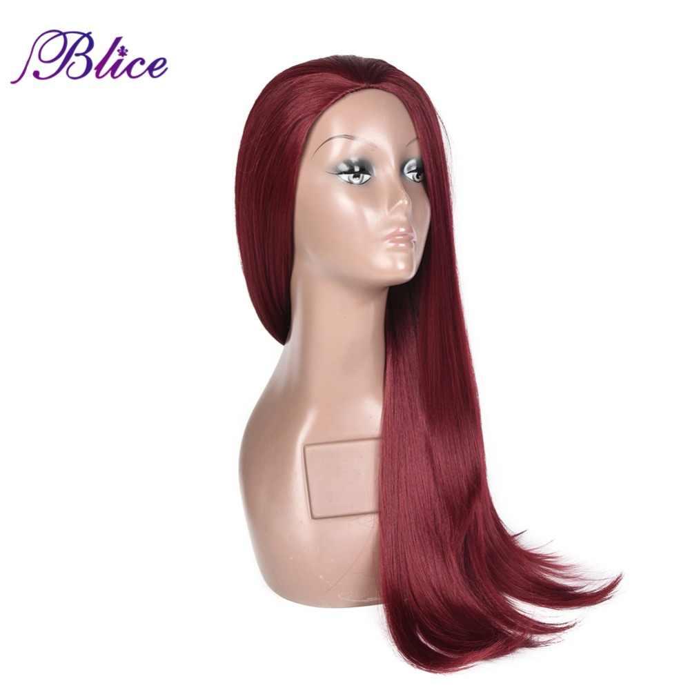 Blice Синтетические длинные парики с шелковистыми прямыми волосами винно-красный 3/4 половина волос 20 дюймов парики термостойкие Futura тканевые крылья