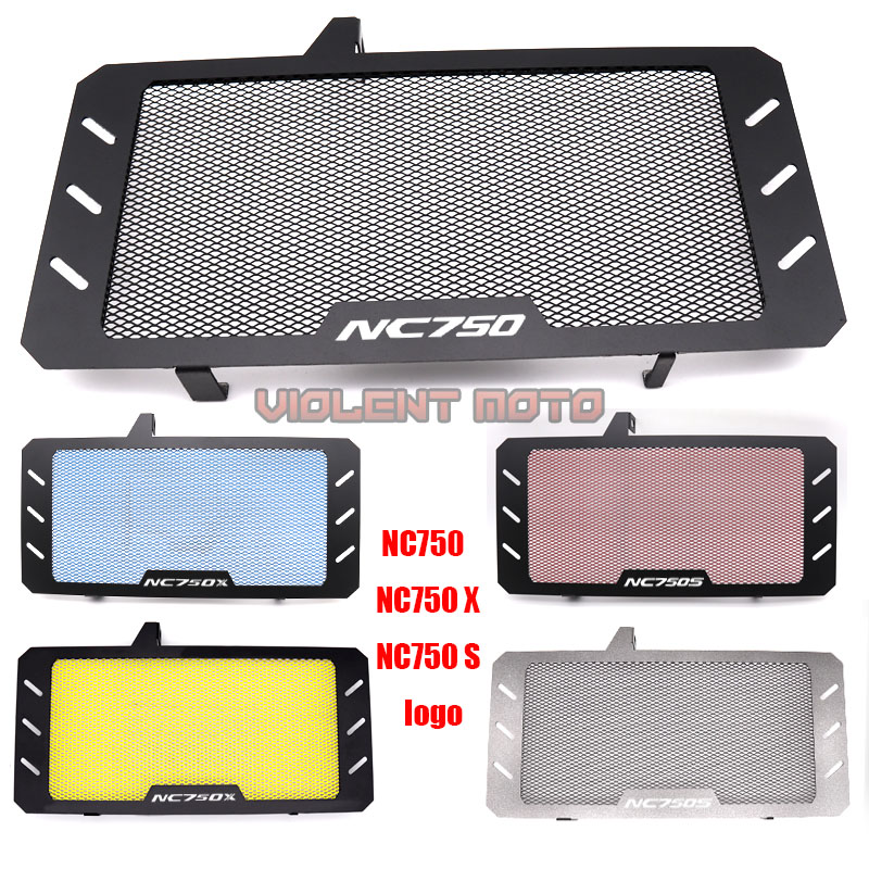 Black Motorcycle Accessories Radiator Guard Protector Grille Grill Cover For HONDA NC750 NC750S NC750X NC 750S/X 2014 - 2017 18(China)
