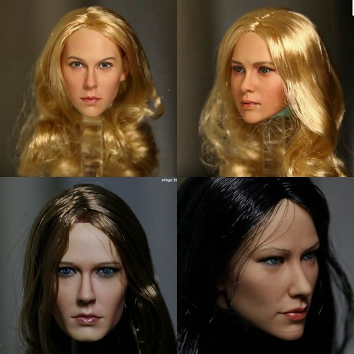 "KUMIK 15-7 1//6 Scale CG CY Lady Black Long Hair Head Sculpt Toy F12/"" Body Figure"