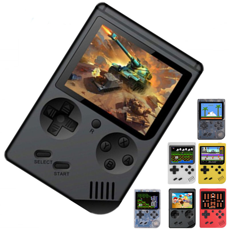 Retro Portable Mini Handheld Game Console 8-Bit 3.0 Inch Color LCD Kids Game Player Built-in 168 Classic game boy Video games image