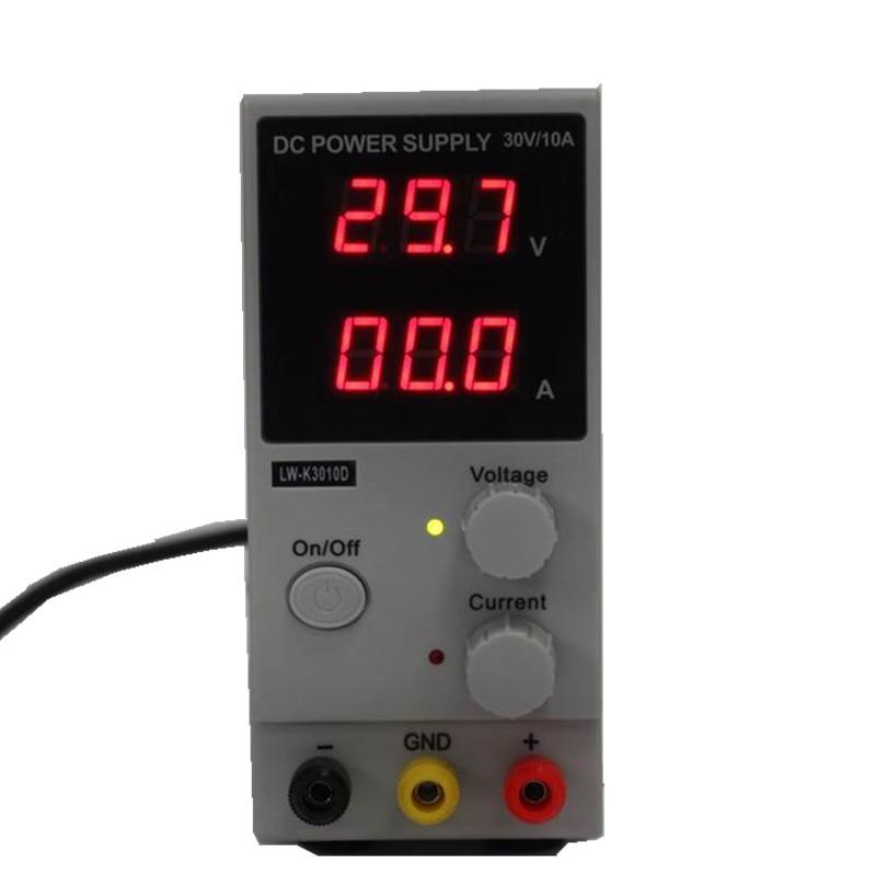 110 220V LW K3010D DC Power Supply 0 30V 0 10A Adjustable Digital Display Switching Power